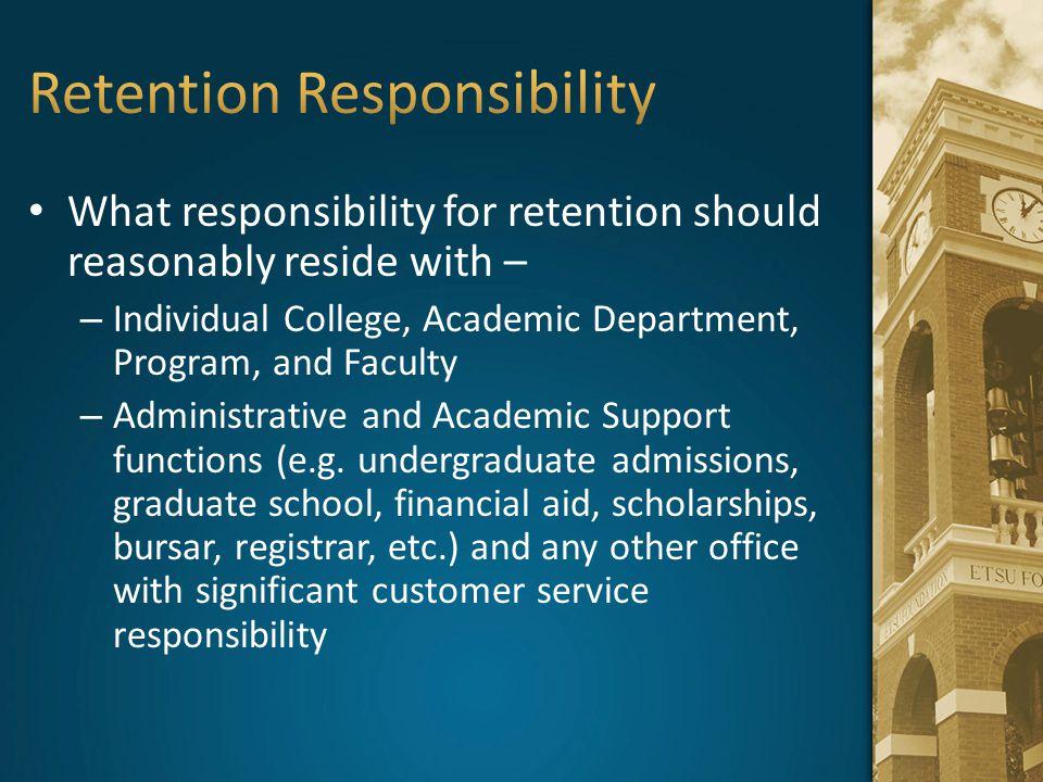 Retention Responsibility