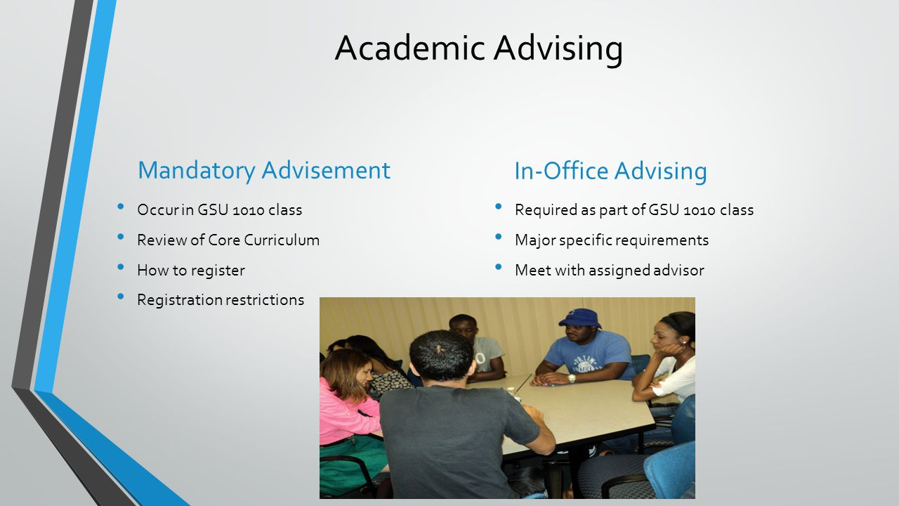 Academic Advising Mandatory Advisement In-Office Advising