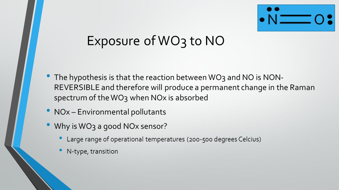 Exposure of WO3 to NO