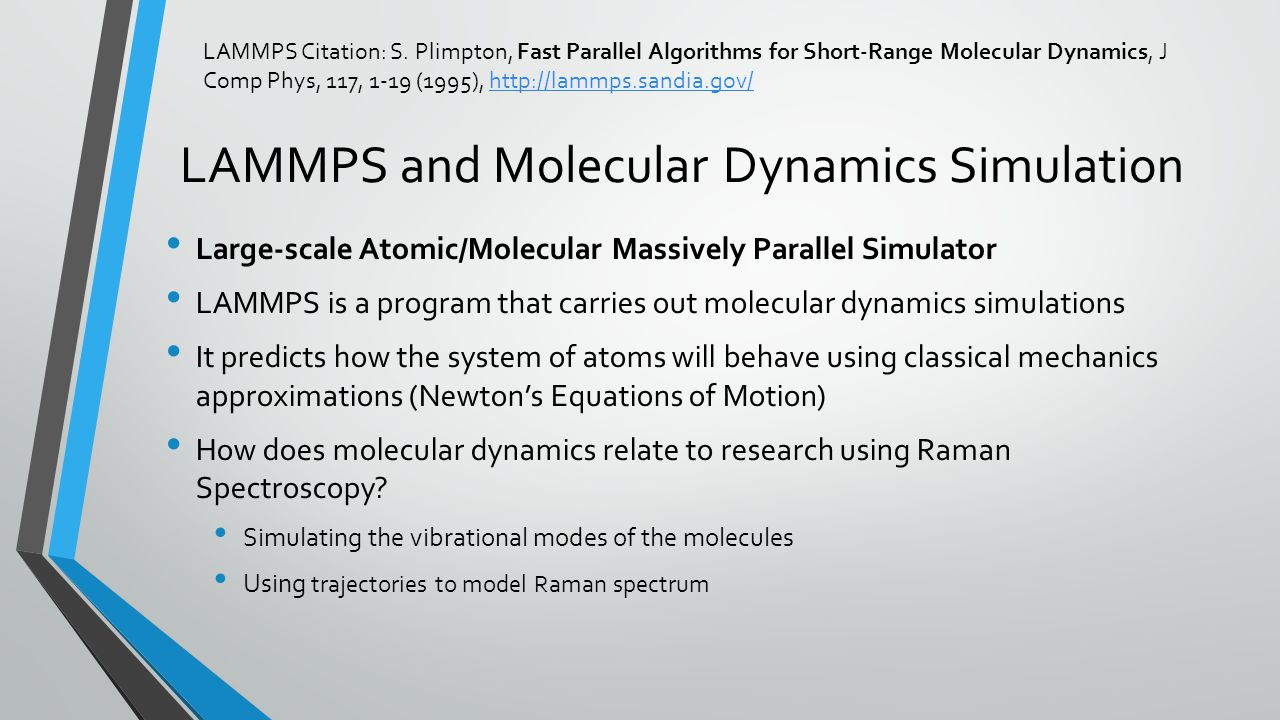 LAMMPS and Molecular Dynamics Simulation