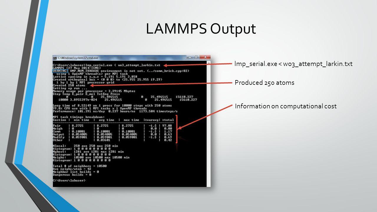 LAMMPS Output lmp_serial.exe < wo3_attempt_larkin.txt