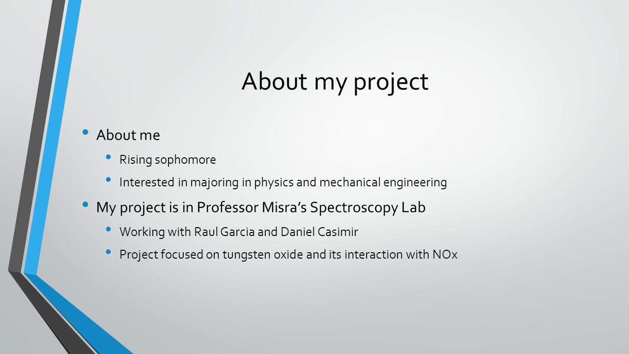 About my project About me