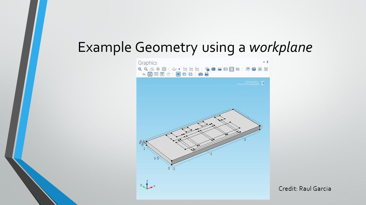 Example Geometry using a workplane