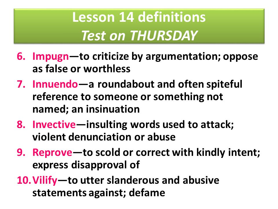 Lesson 14 definitions Test on THURSDAY