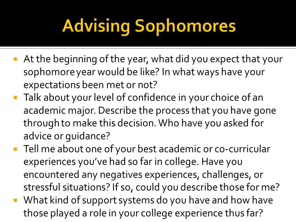 Advising Sophomores