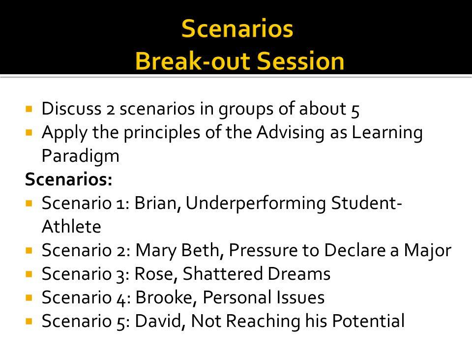 Scenarios Break-out Session