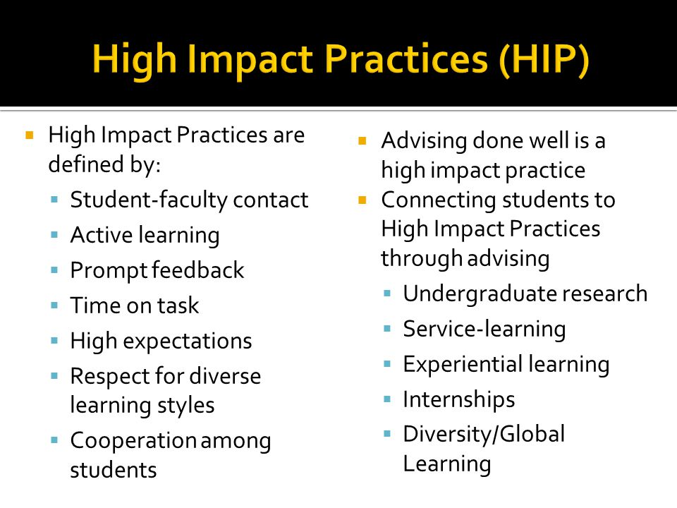 High Impact Practices (HIP)