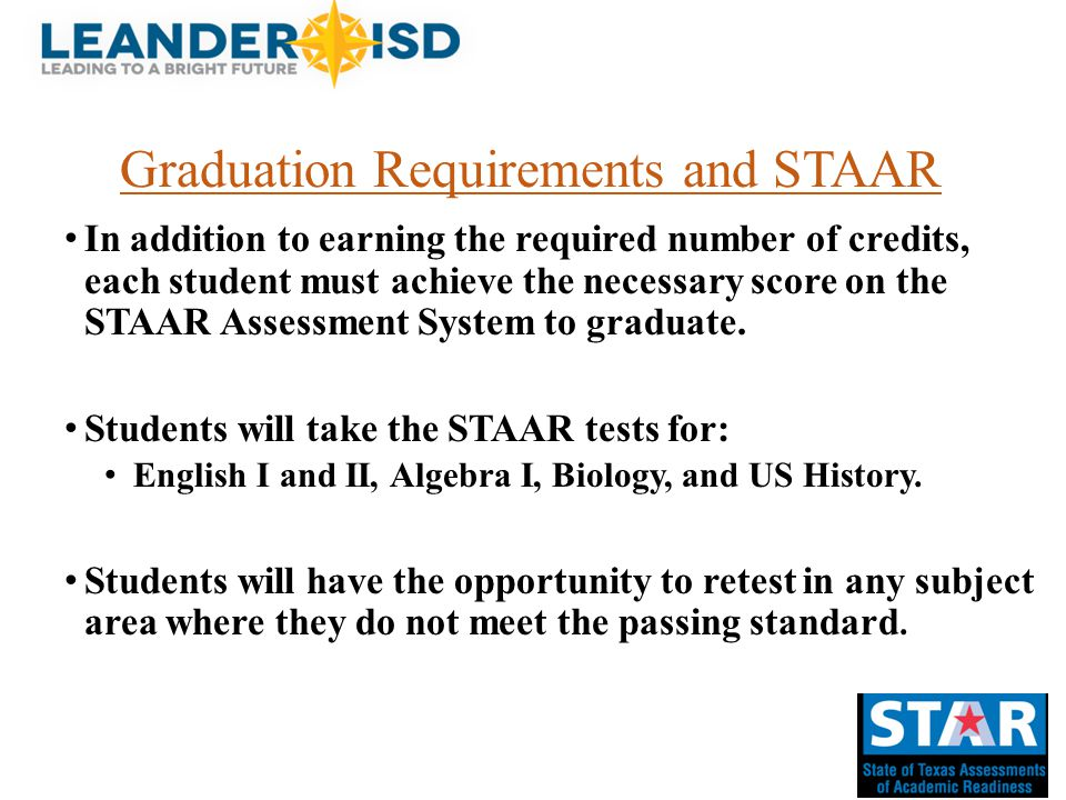 Graduation Requirements and STAAR