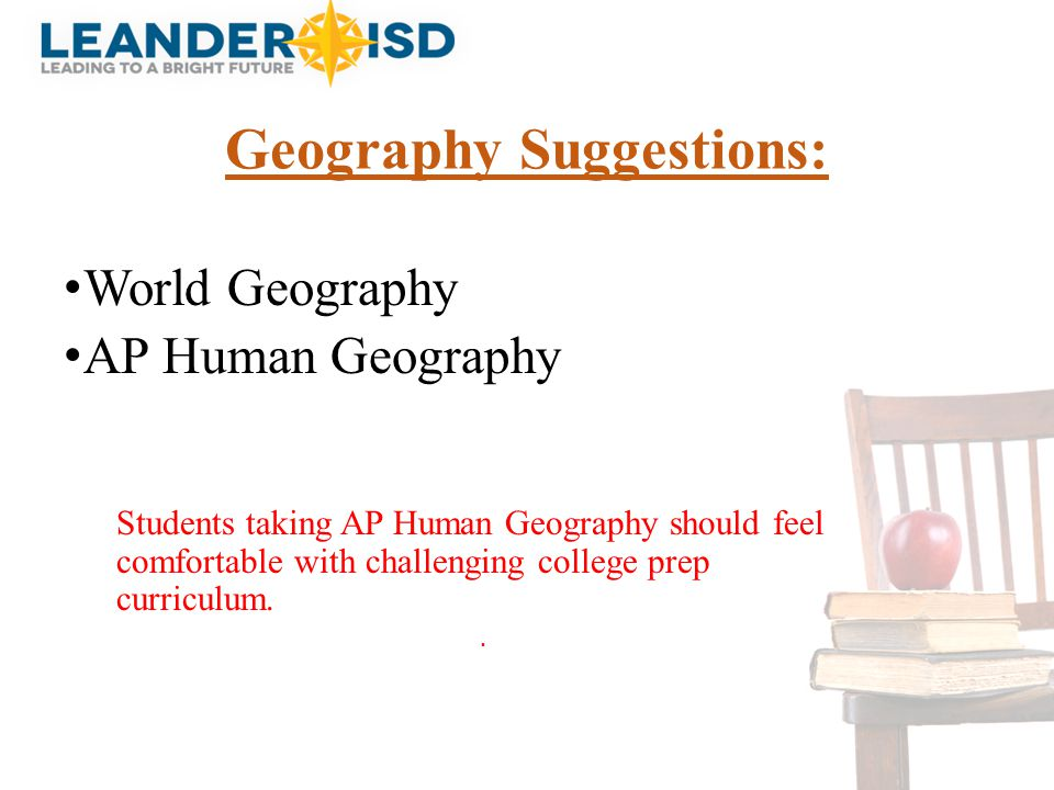 Geography Suggestions: