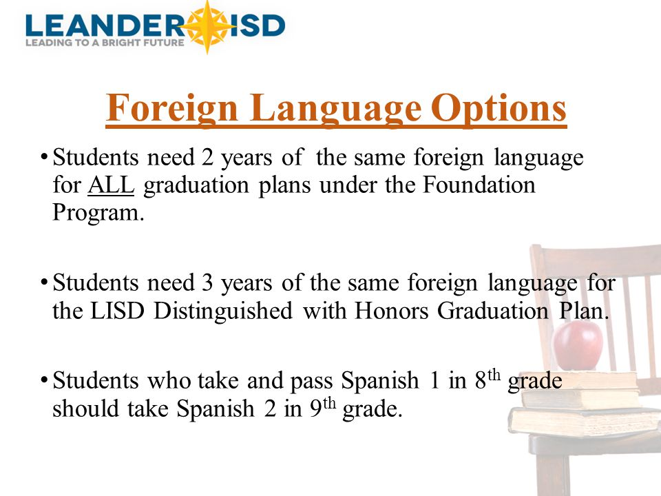 Foreign Language Options