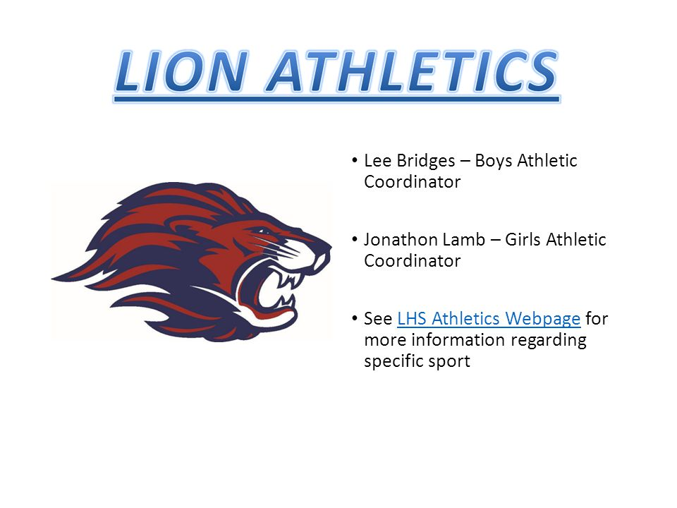 Lee Bridges – Boys Athletic Coordinator