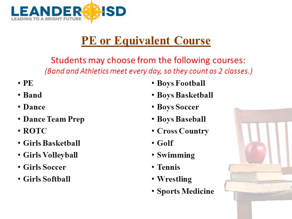 PE or Equivalent Course