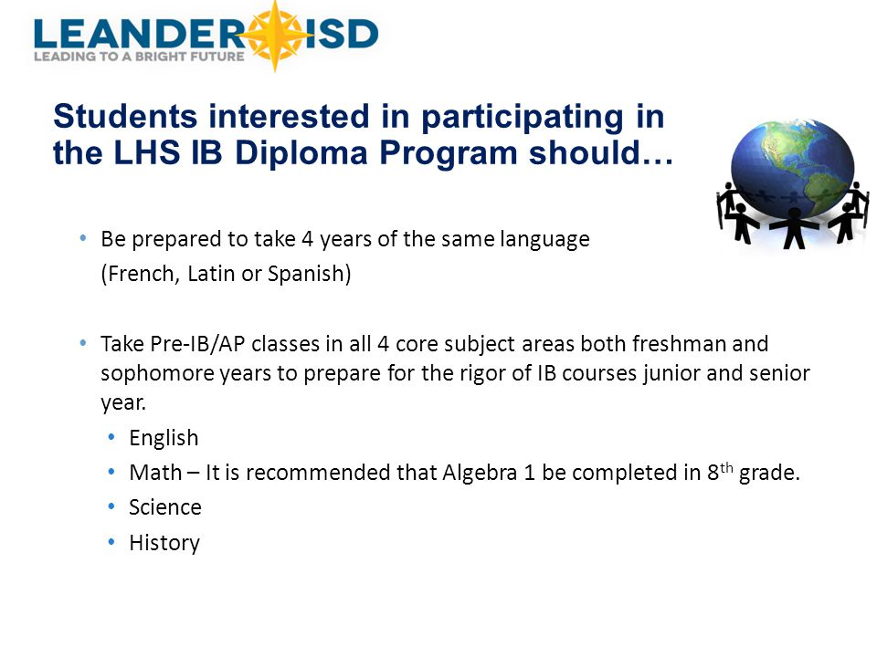 Students interested in participating in the LHS IB Diploma Program should…