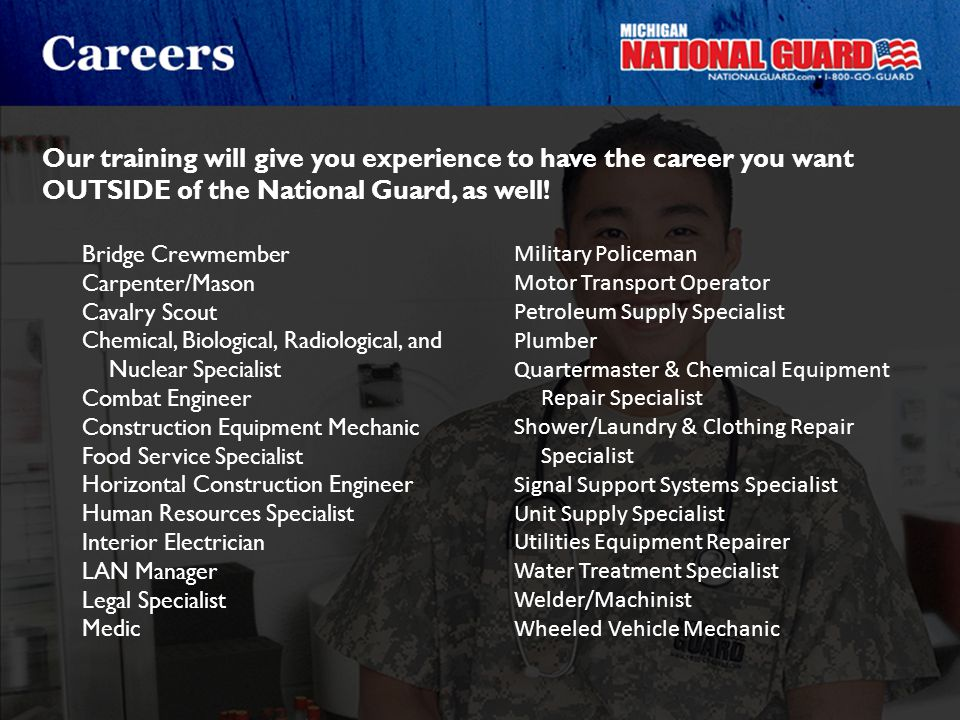 Our training will give you experience to have the career you want