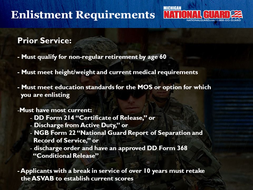 Prior Service: - Must qualify for non-regular retirement by age 60