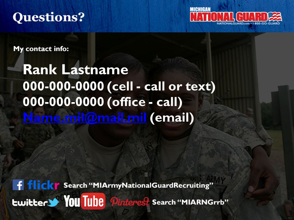 Rank Lastname 000-000-0000 (cell - call or text)