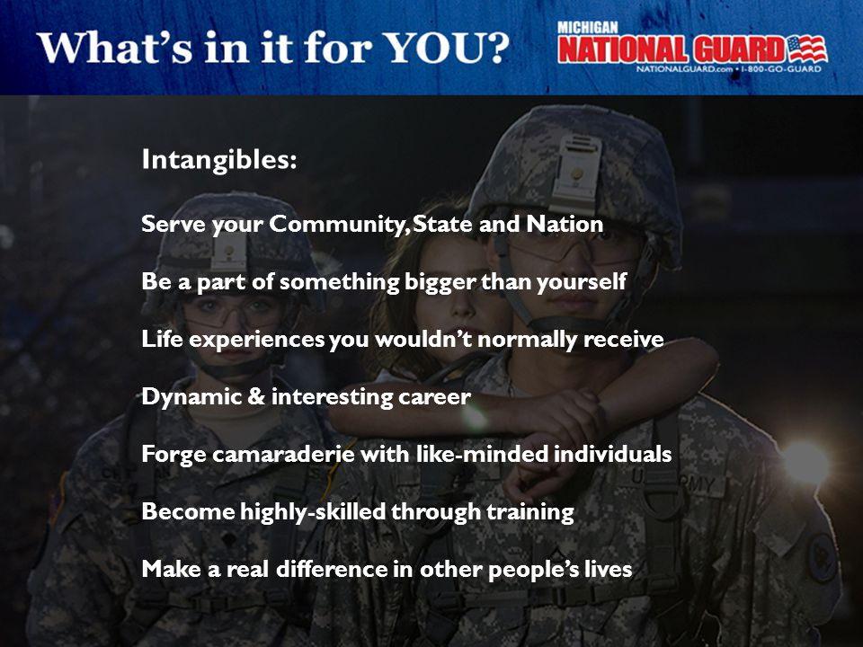 Intangibles: Serve your Community, State and Nation