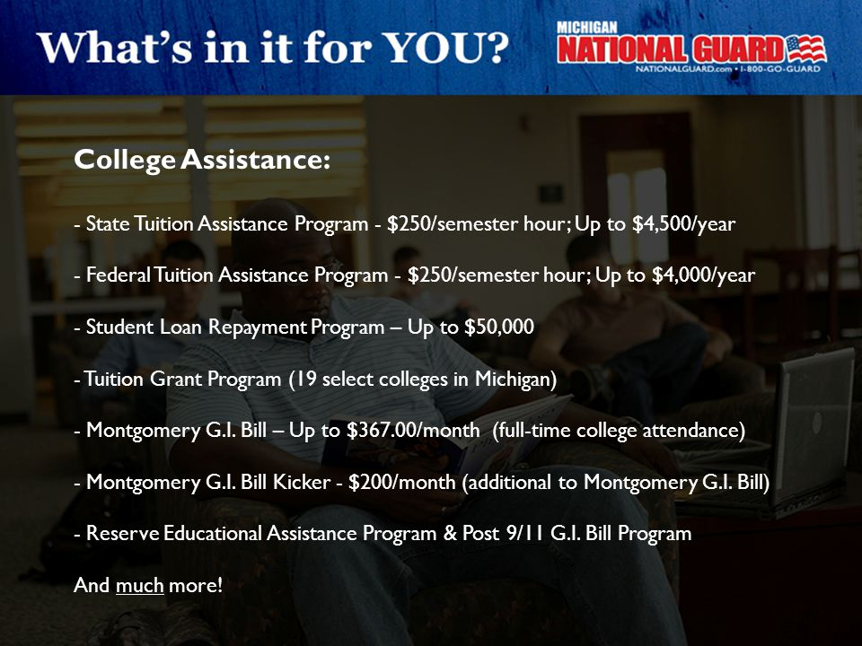 College Assistance: