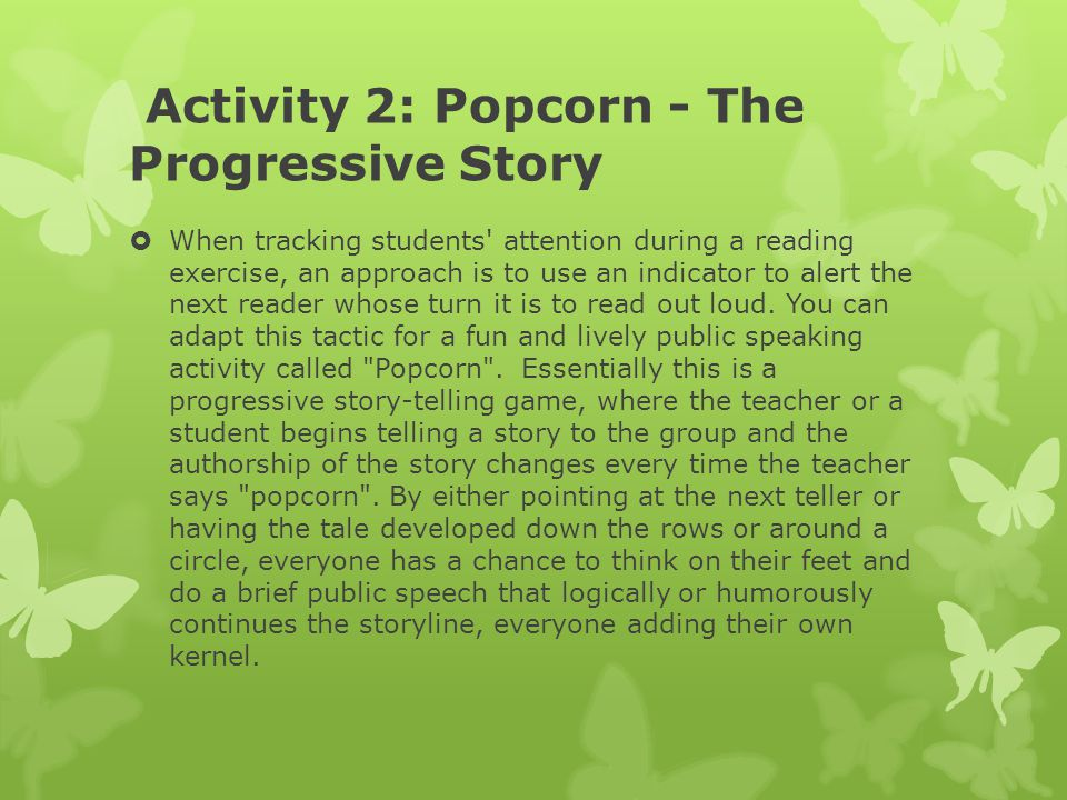 Activity 2: Popcorn - The Progressive Story
