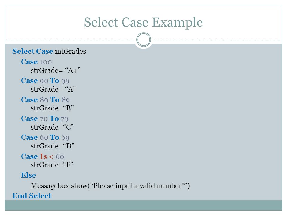 Select Case Example