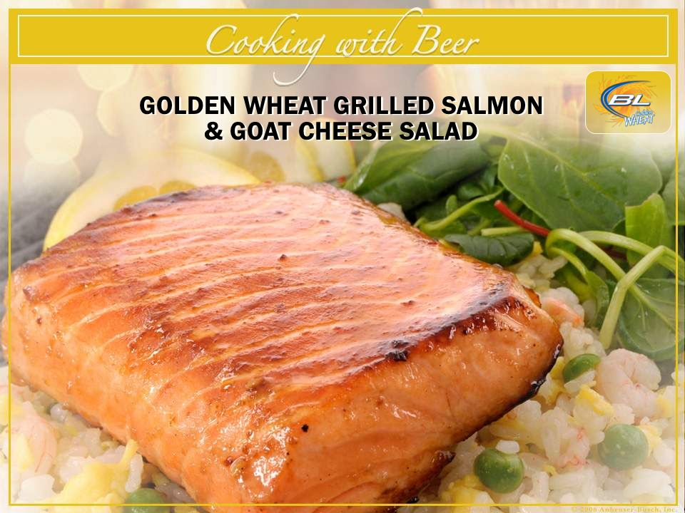 GOLDEN WHEAT GRILLED SALMON & GOAT CHEESE SALAD
