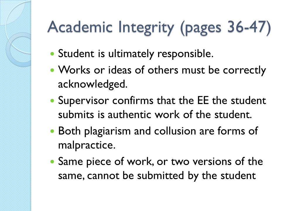 Academic Integrity (pages 36-47)