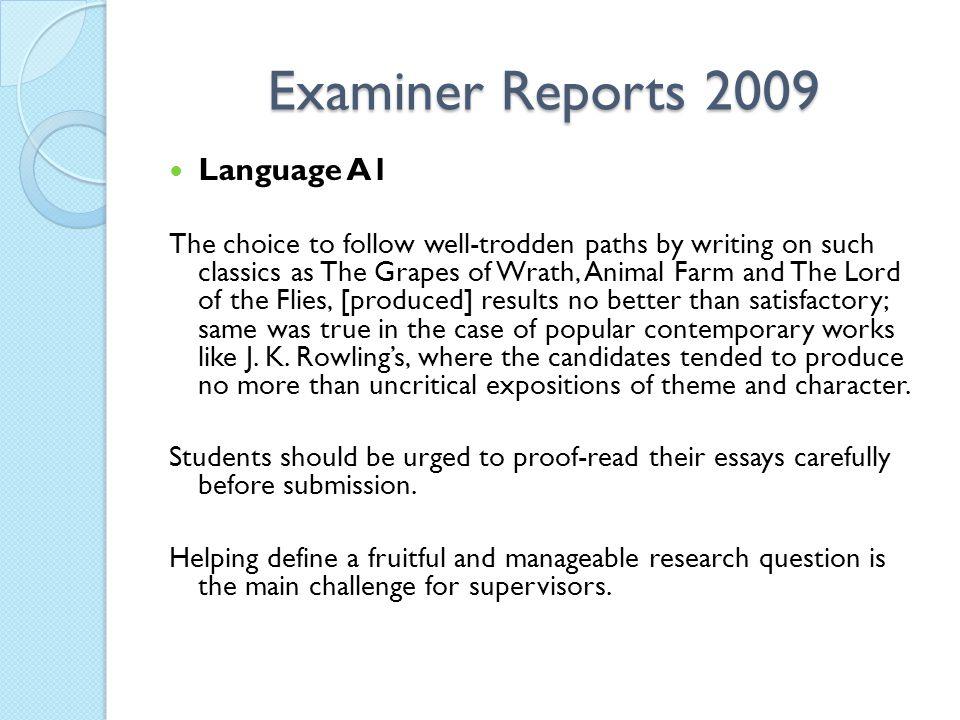 Examiner Reports 2009 Language A1