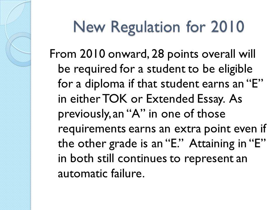 New Regulation for 2010