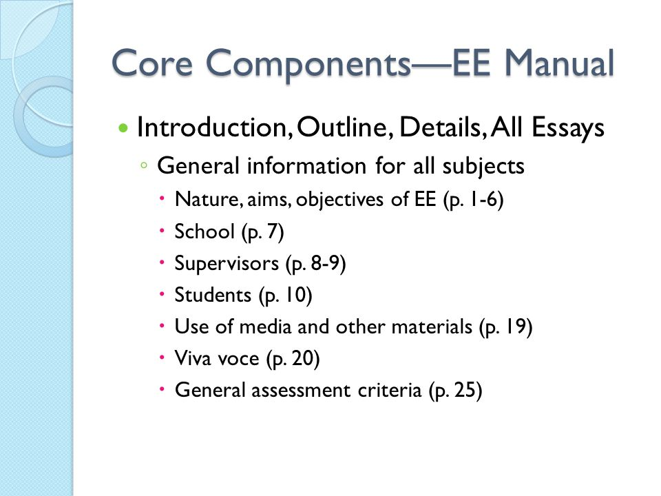 Core Components—EE Manual