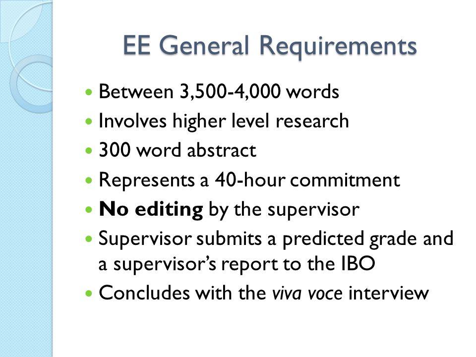 EE General Requirements