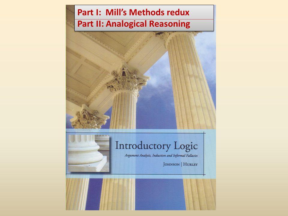 Part I: Mill's Methods redux