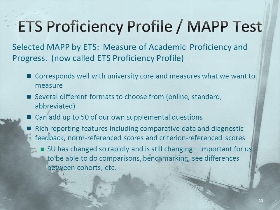 ETS Proficiency Profile / MAPP Test