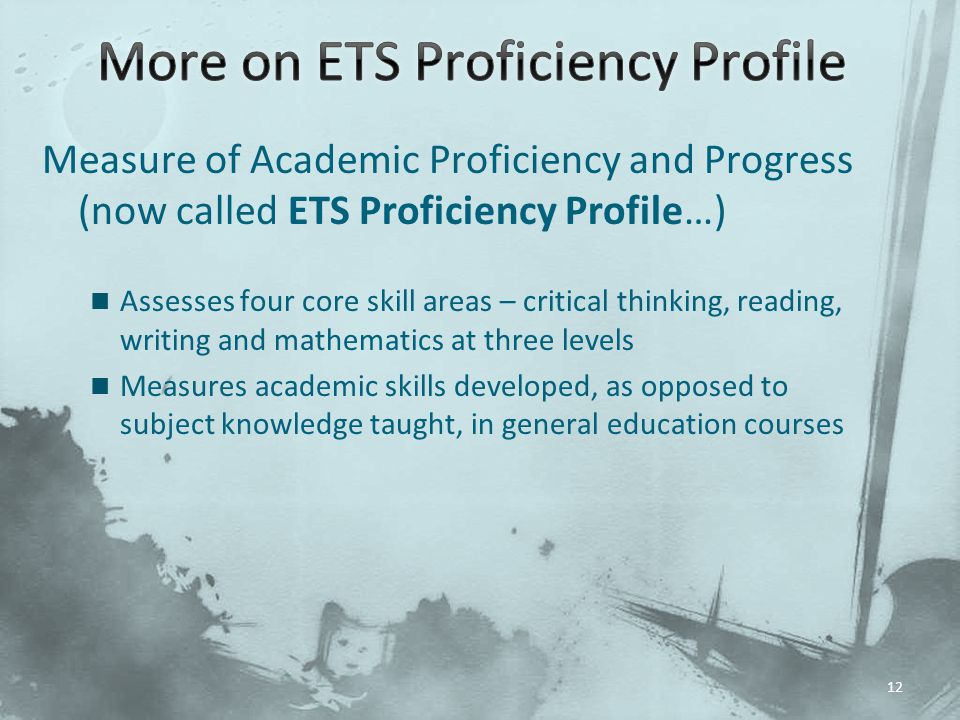 More on ETS Proficiency Profile