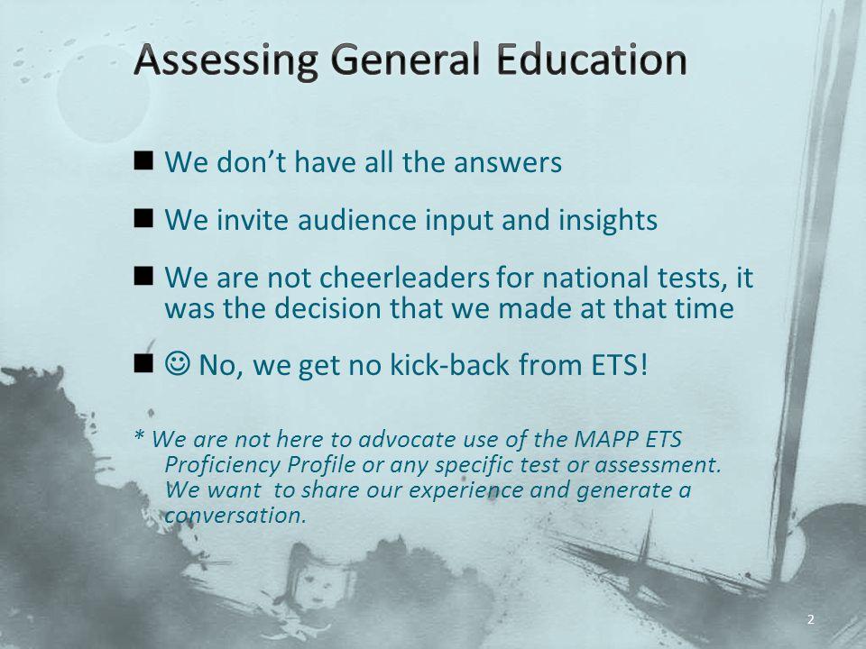 Assessing General Education