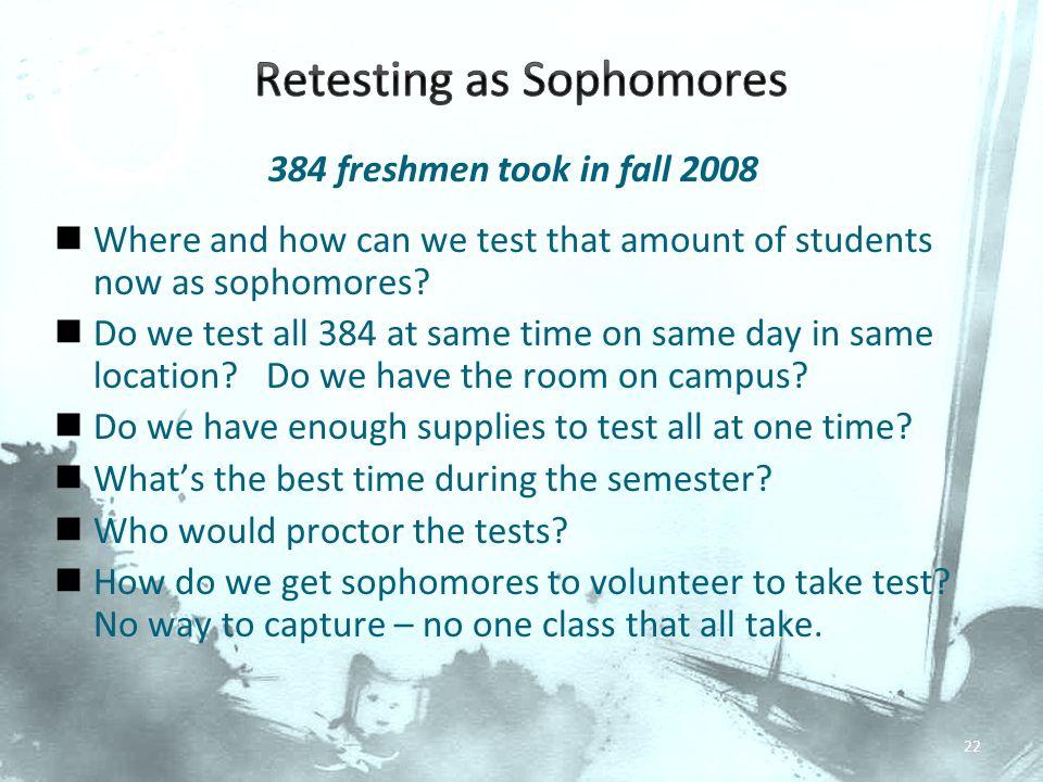 Retesting as Sophomores