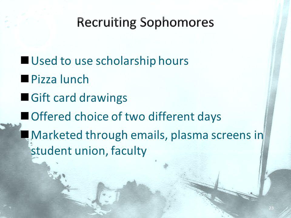 Recruiting Sophomores