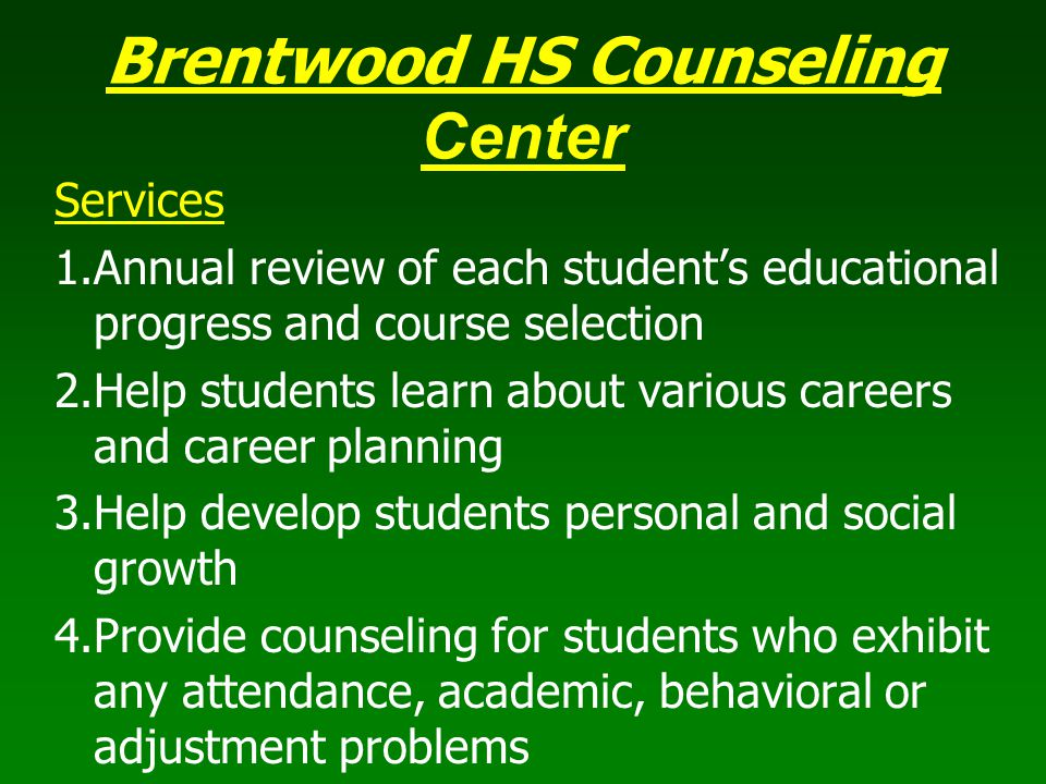 Brentwood HS Counseling Center