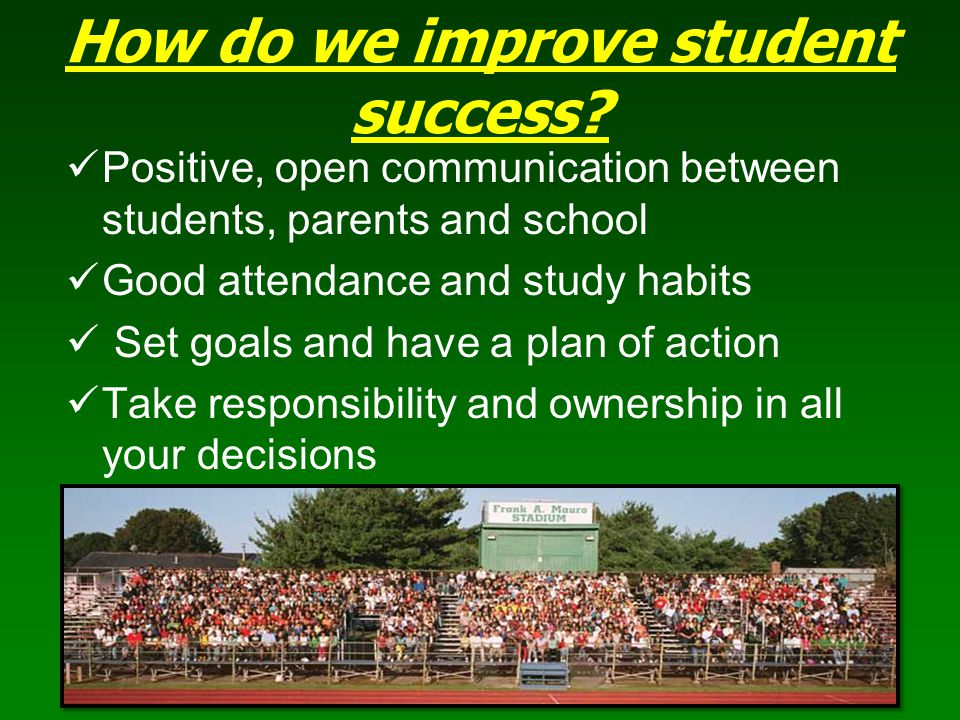 How do we improve student success