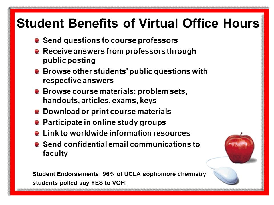 Student Benefits of Virtual Office Hours