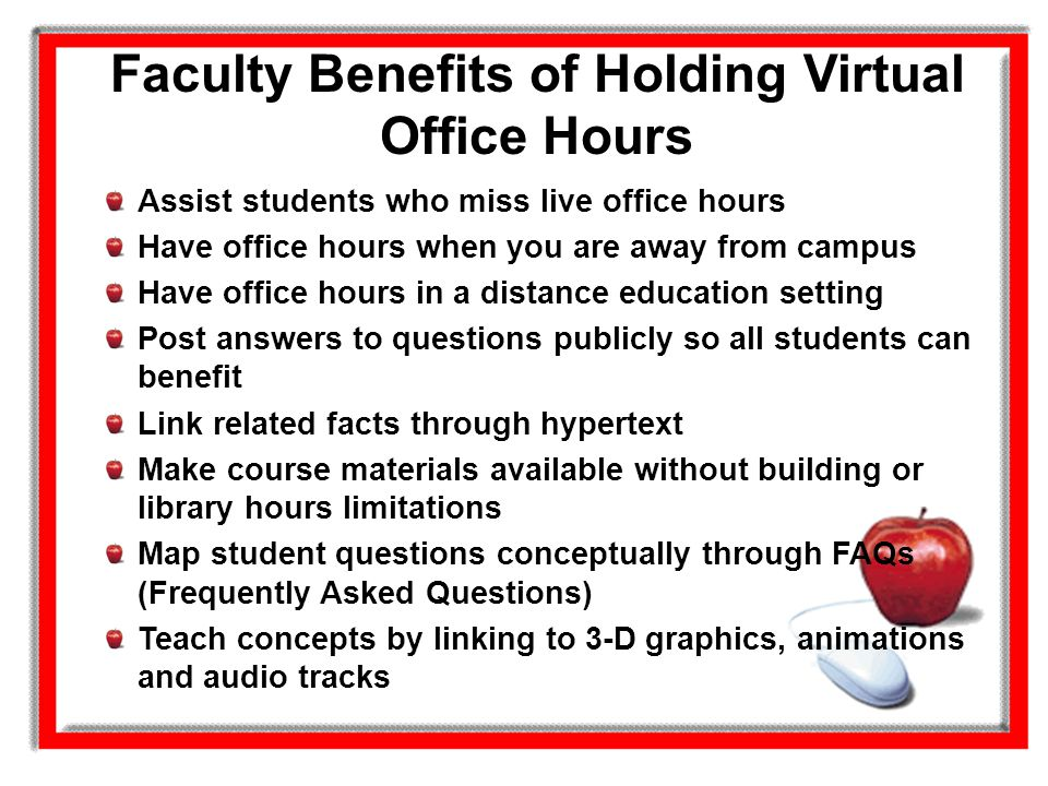 Faculty Benefits of Holding Virtual Office Hours
