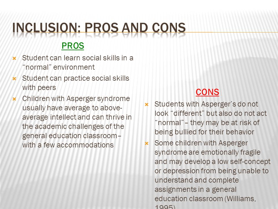 Inclusion: Pros and Cons