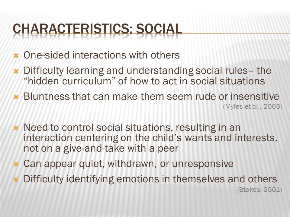 Characteristics: Social