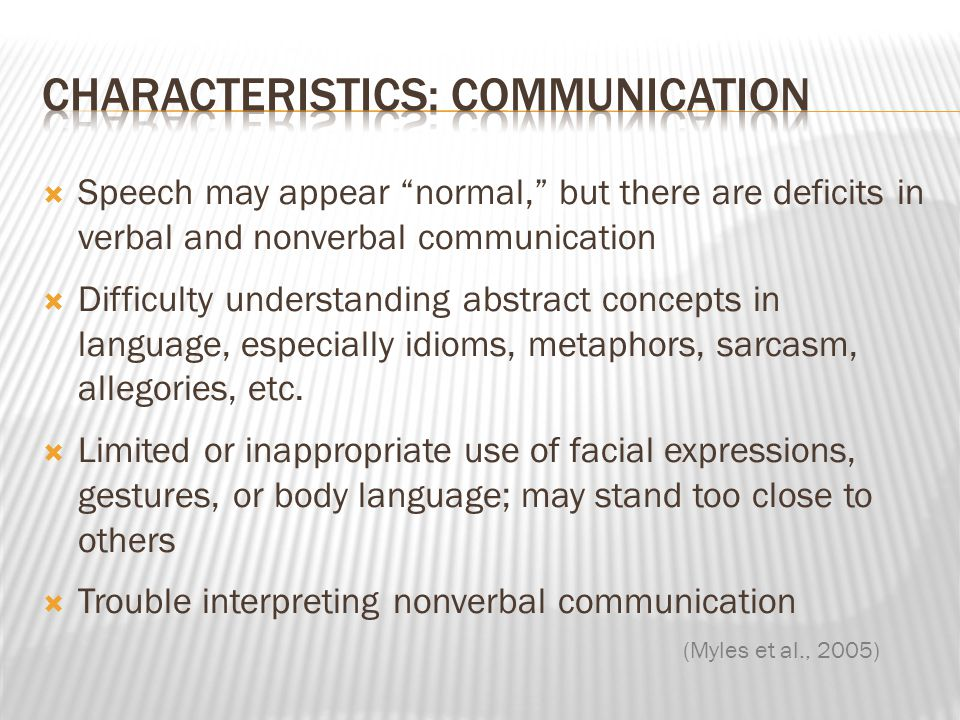 Characteristics: Communication