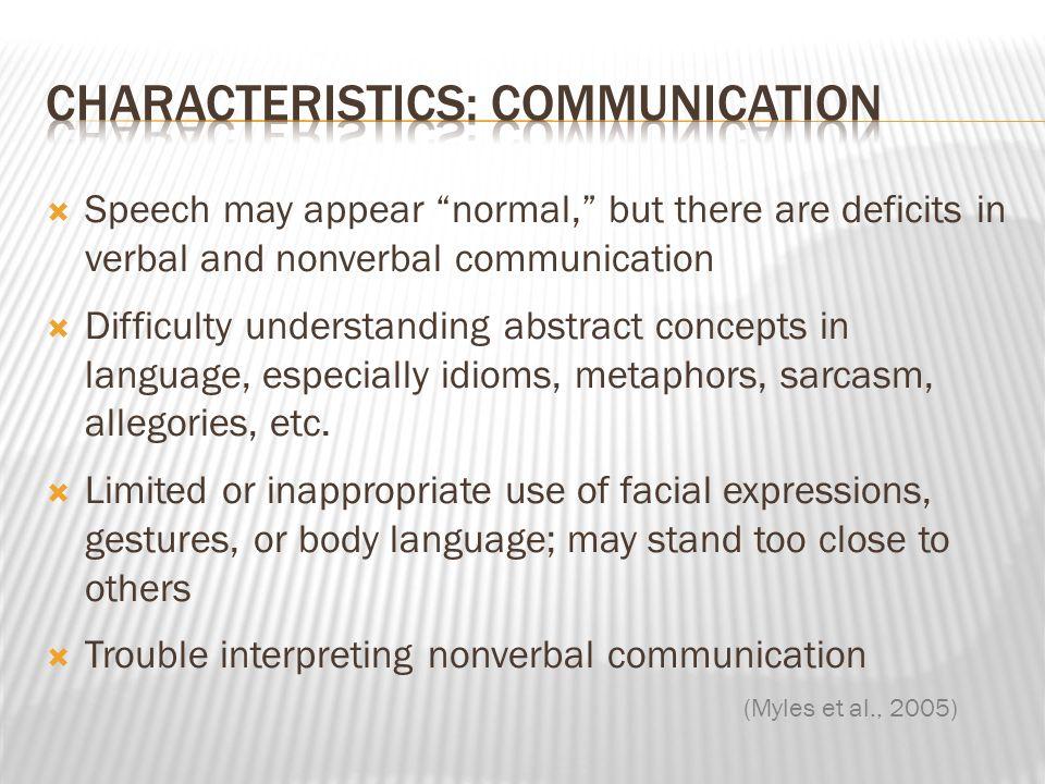 Characteristics: Communication