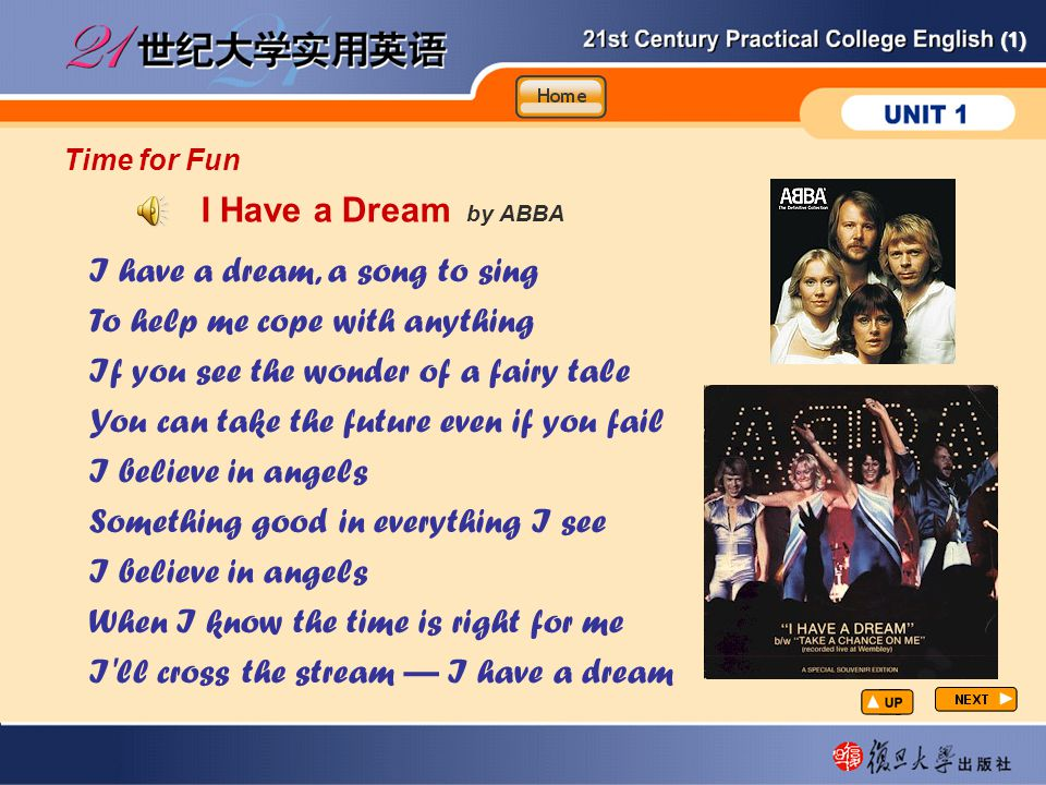 Time for Fun I Have a Dream by ABBA.