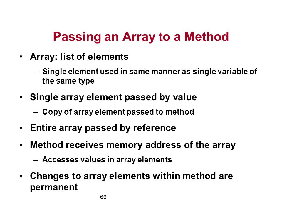 Passing an Array to a Method