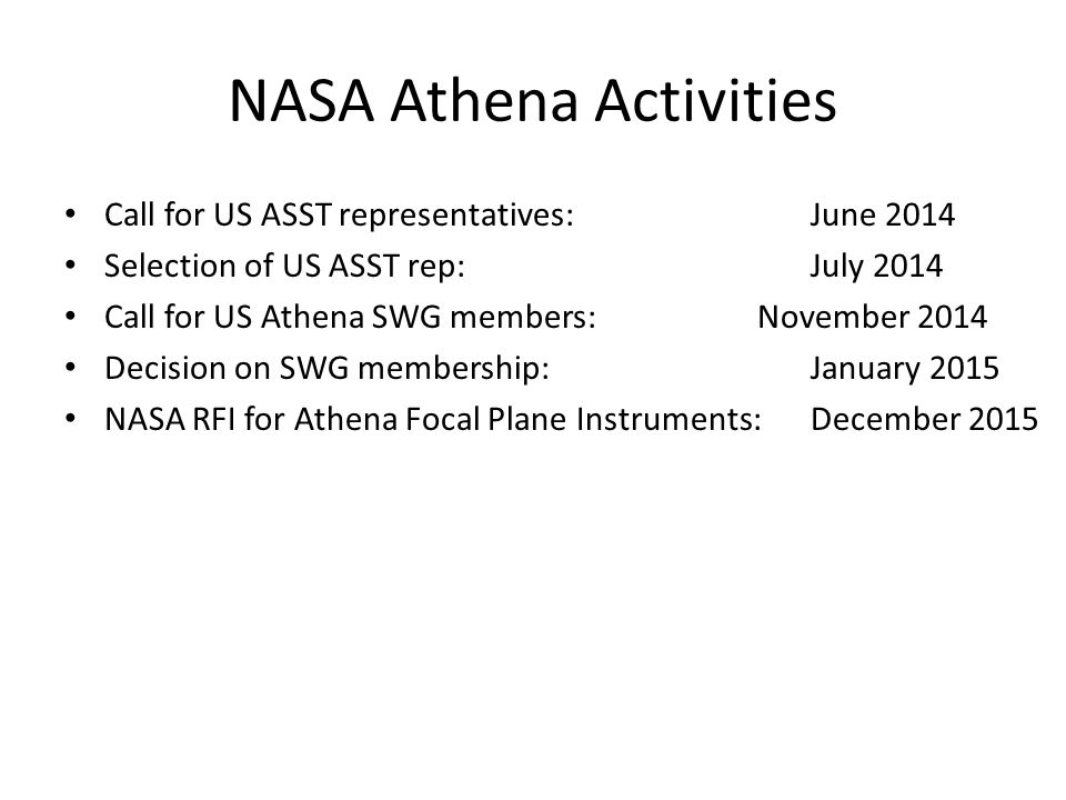 NASA Athena Activities