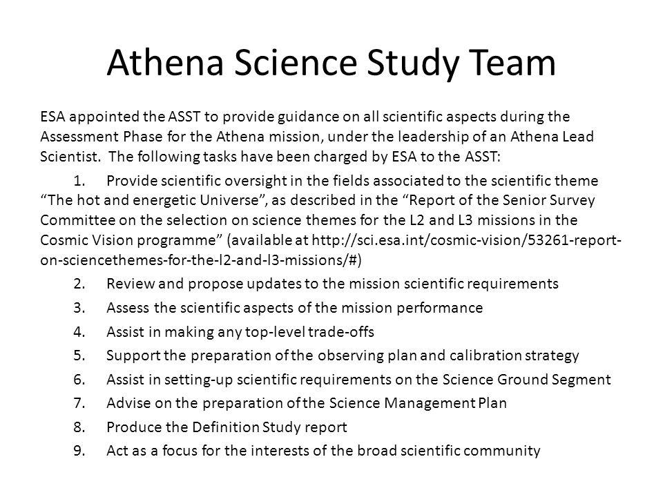 Athena Science Study Team