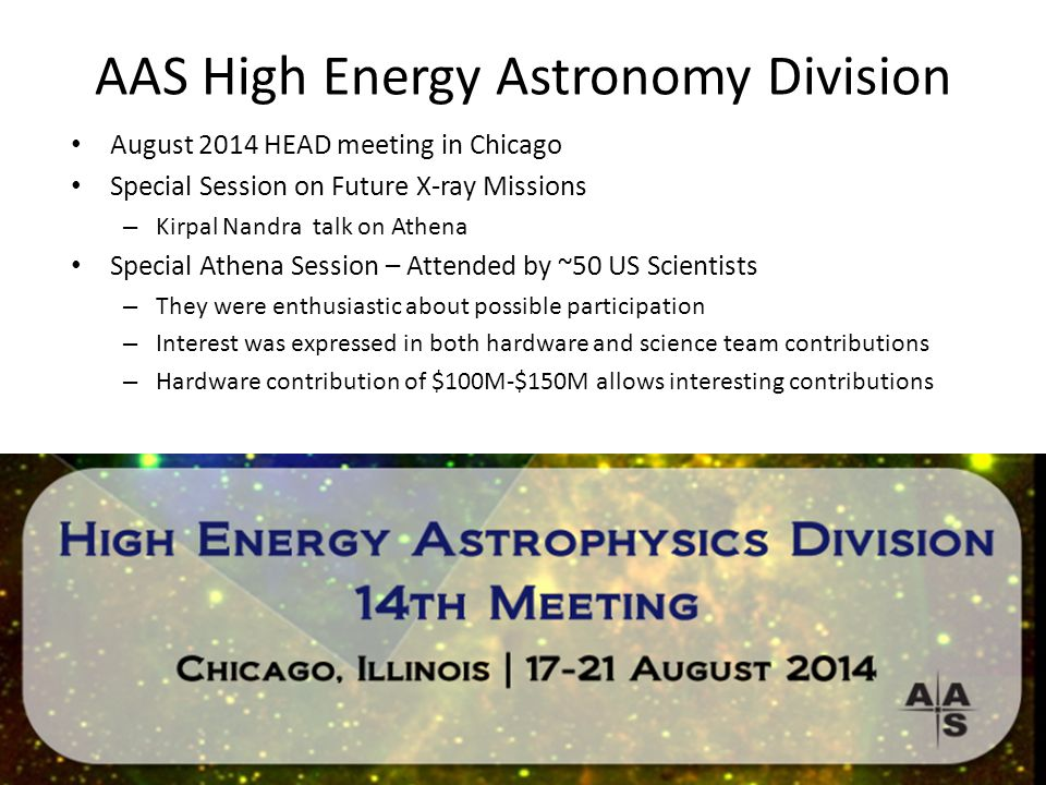 AAS High Energy Astronomy Division