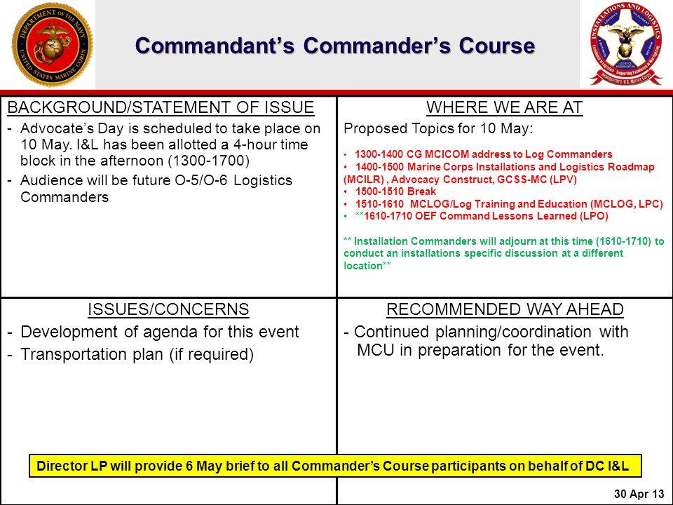 Commandant's Commander's Course